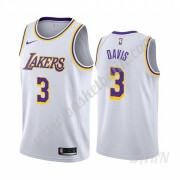Barn NBA Tröja Los Angeles Lakers 2019-20 Anthony Davis 3# Vit Association Edition Swingman..