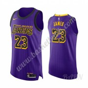 Barn NBA Tröja Los Angeles Lakers 2019-20 LeBron James 23# Lila City Edition Swingman..