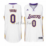 Los Angeles Lakers Basket Tröja Nick Young 0# Vit Home..