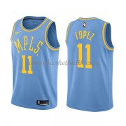 Los Angeles Lakers Basket Tröja 2018 Brook Lopez 11# Light Blue Hardwood Classics..