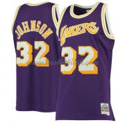 Los Angeles Lakers 1984-85 Magic Johnson 32# Purple Hardwood Classics..