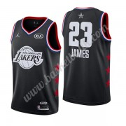 Los Angeles Lakers 2019 Lebron James 23# Svart All Star Game NBA Basketlinne Swingman..