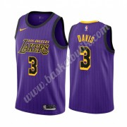 Los Angeles Lakers Basket Tröja 2019-20 Anthony Davis 3# Lila City Edition Swingman..