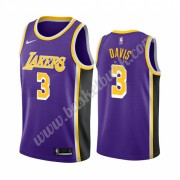 Los Angeles Lakers Basket Tröja 2019-20 Anthony Davis 3# Lila Statement Edition Swingman..