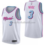 Barn NBA Tröja Miami Heat 2018 Dwyane Wade 3# City Edition..