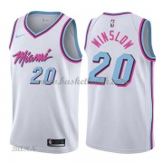 Barn NBA Tröja Miami Heat 2018 Justise Winslow 20# City Edition