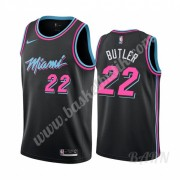 Barn NBA Tröja Miami Heat 2019-20 Jimmy Butler 22# Svart City Edition Swingman..