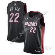 Barn NBA Tröja Miami Heat 2019-20 Jimmy Butler 22# Svart Icon Edition Swingman..