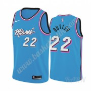 Barn NBA Tröja Miami Heat 2019-20 Jimmy Butler 22# Blå City Edition Swingman..