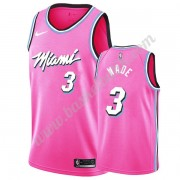 Miami Heat Basket Tröja 2019-20 Dwyane Wade 3# Rosa Earned Edition Swingman..