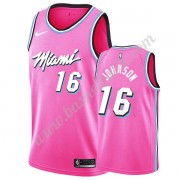 Miami Heat Basket Tröja 2019-20 James Johnson 16# Rosa Earned Edition Swingman..