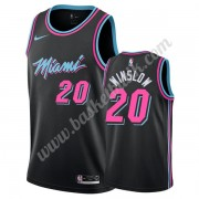 Miami Heat Basket Tröja 2019-20 Justise Winslow 20# Svart City Edition Swingman..