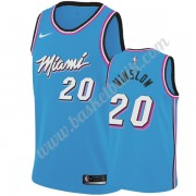 Miami Heat Basket Tröja 2019-20 Justise Winslow 20# Blå City Edition Swingman..