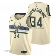 Barn NBA Tröja Milwaukee Bucks 2018 Giannis Antetokounmpo 34# City Edition..