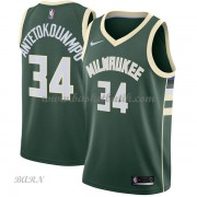 Barn NBA Tröja Milwaukee Bucks 2018 Giannis Antetokounmpo 34# Icon Edition..