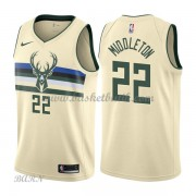 Barn NBA Tröja Milwaukee Bucks 2018 Khris Middleton 22# City Edition..
