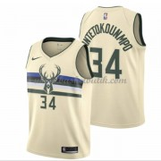 Milwaukee Bucks Basket Tröja 2018 Giannis Antetokounmpo 34# City Edition..