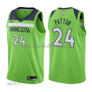 Barn NBA Tröja Minnesota Timberwolves 2018 Karl Justin Patton 24# Statement Edition..