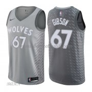 Barn NBA Tröja Minnesota Timberwolves 2018 Taj Gibson 67# City Edition..