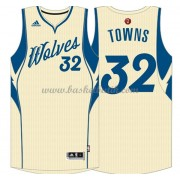 Minnesota Timberwolves Basketkläder 2015 Karl-Anthony Towns 32# NBA Jultröja..