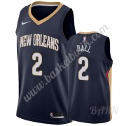 Barn NBA Tröja New Orleans Pelicans 2019-20 Lonzo Ball 2# Marinblå Icon Edition Swingman..