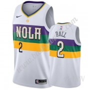 Barn NBA Tröja New Orleans Pelicans 2019-20 Lonzo Ball 2# Vit City Edition Swingman..