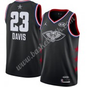 New Orleans Pelicans 2019 Anthony Davis 23# Svart Finished All-Star Game NBA Basketlinne Swingman..