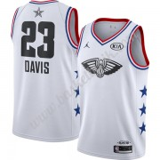 New Orleans Pelicans 2019 Anthony Davis 23# Vit Finished All-Star Game NBA Basketlinne Swingman..