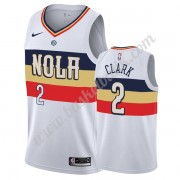 New Orleans Pelicans Basket Tröja 2019-20 Ian Clark 2# Vit Earned Edition Swingman..