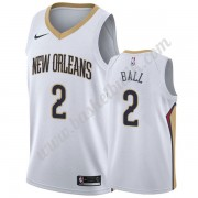 New Orleans Pelicans Basket Tröja 2019-20 Lonzo Ball 2# Vit Association Edition Swingman..