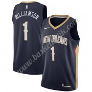 New Orleans Pelicans Basket Tröja 2019-20 Zion Williamson 1# Marinblå Icon Edition Swingman..