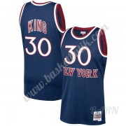 Barn NBA Tröja New York Knicks 1982-83 Bernard King 30# Marinblå Hardwood Classics Swingman..