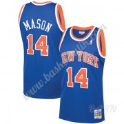 Barn NBA Tröja New York Knicks 1991-92 Anthony Mason 14# Blå Hardwood Classics Swingman..