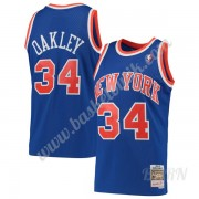 Barn NBA Tröja New York Knicks 1991-92 Charles Oakley 34# Blå Hardwood Classics Swingman..