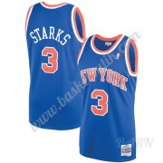 Barn NBA Tröja New York Knicks 1991-92 John Starks 3# Blå Hardwood Classics Swingman..