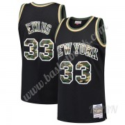 Barn NBA Tröja New York Knicks 1991-92 Patrick Ewing 33# Svart Straight Fire Camo Swingman..