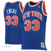 Barn NBA Tröja New York Knicks 1991-92 Patrick Ewing 33# Blue Hardwood Classics..