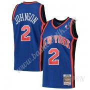 Barn NBA Tröja New York Knicks 1998-99 Larry Johnson 2# Blå Hardwood Classics Swingman..