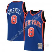 Barn NBA Tröja New York Knicks 1998-99 Latrell Sprewell 8# Blå Hardwood Classics Swingman..