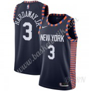 Barn NBA Tröja New York Knicks 2019-20 Tim Hardaway Jr. 3# Marinblå City Edition Swingman..