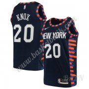 Barn NBA Tröja New York Knicks 2019-20 Kevin Knox 20# Marinblå City Edition Swingman..
