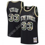 New York Knicks Basket Tröja 1991-92 Patrick Ewing 33# Svart Straight Fire Camo Swingman..