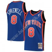 New York Knicks Basket Tröja 1998-99 Latrell Sprewell 8# Blå Hardwood Classics Swingman..
