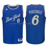 New York Knicks Basketkläder 2015 Kristaps Porzingis 6# NBA Jultröja..