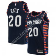 New York Knicks Basket Tröja 2019-20 Kevin Knox 20# Marinblå City Edition Swingman..