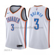 Barn NBA Tröja Oklahoma City Thunder 2018 Corey Brewer 3# Association Edition..