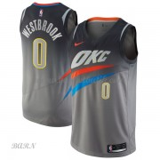 Barn NBA Tröja Oklahoma City Thunder 2018 Russell Westbrook 0# City Edition..