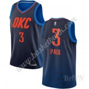 Barn NBA Tröja Oklahoma City Thunder 2019-20 Chris Paul 3# Blå Statement Edition Swingman..