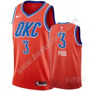 Barn NBA Tröja Oklahoma City Thunder 2019-20 Chris Paul 3# Orange Statement Edition Swingman..