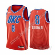 Barn NBA Tröja Oklahoma City Thunder 2019-20 Danilo Gallinari 8# Orange Statement Edition Swingman..